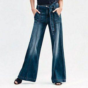Anthropologie Palazzo Wide Leg Trouser Jeans NWT